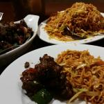 Dry chili chicken and Manchurian chicken noodles. Superb!