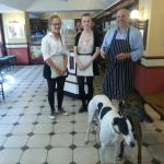 Staff with our 2 dogs !