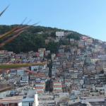 Vista della Favelas all'ultimo piano dell'Hotel