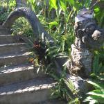 Treppe im Garten von Sananda