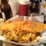 Large Haddock & Chips.
