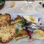 Antipasti re Ferdinando e ravioli allo scorfano, zucchine e vongole... Top!! 👍🏽👍🏽👍🏽