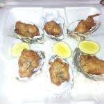 Calamares y ostiones en tempura