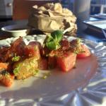 roasted squash and beet salad