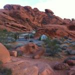 A tent campsite at Valley of Fire State Park
