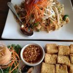 fried tofu and pad thai