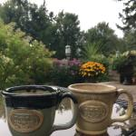 Coffee on the front patio