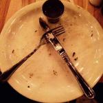 Nice design...empty plate...I ate too fast, the salmon was great!