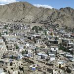 VIEW OF LEH from the top of the palace