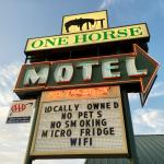 One Horse Motel sign