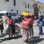 Traditionele Peruaanse vrouwen op de Plaza des Armas