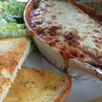 Lasagna was very nice, a safe choice for a picky eater