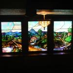 Stained Glass Windows in Stairway