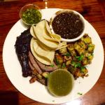 Combo Plate - Chicken & Tri-Tip with Chimichurri, Beans and Potatoes