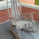 Unique chair on the porch you can try out