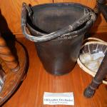 Leather fire bucket