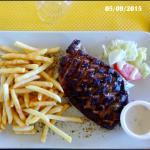 Magret frites sauce roquefort 16€