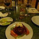 Carpaccio d'impala au restaurant