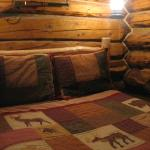 Inside the Trapper cabin - small but magical