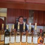 Mr. Szedmak and his wines