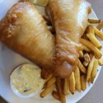 Two piece fish & chips!!