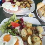 ,ham egg chips, the ham was to die for, recently taken over by new owners, the food and service