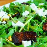 Lofty Coffee Arugula Salad with Goat Cheese and Fig