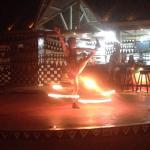 Espectáculo de malabares con fuego