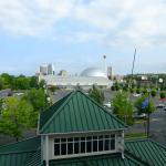 view of the Basketball Hall of Fame from room 436