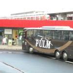 旅館前便是公車總站