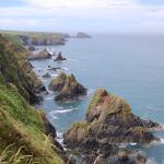 View from the coastal path near Abercastle