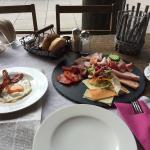 Frühstück... Mein erstes Mal zum Frühstück im Murnauer. Es war sehr reichlich und schmackhaft. B