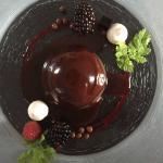 Blåbärsglass med choklad
