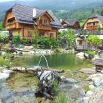 Our lovely chalets and surrounding alpine landscapes and mountains
