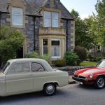 Our classic cars outside Kinross House