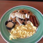 Blueberry banana pancake platter