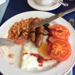 Gorgeous Breakfast , I had eaten the bacon before I took the pic