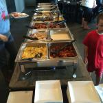 The Sunday brunch buffet features an extensive and varied selection