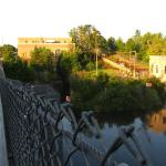 The bridge and hydro electric plant