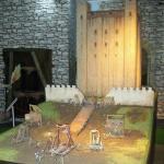 Model of Rochester Castle under siege
