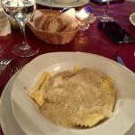 Ravioli with truffle sauce