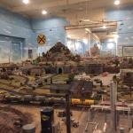 Huge model train display