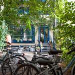 Le jardin avec les vélos gratuits