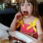 3 year olds and bacon...