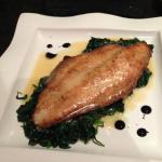 Filet of Sole on a bed of spinich