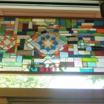 Cool Stained Glass at front Door.