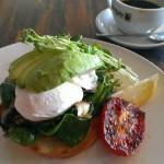 My breakfast: The 'healthy start'. Just fabulous.