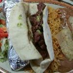 steak fajitas--superb meat...and skip everything else