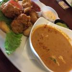 Sandwich and Salad Lunch Combo. Oyster Po Boy and Lobster Bisque