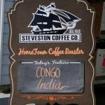 Steveston Coffee sign - Congo India
